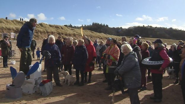 Gairloch waste protest