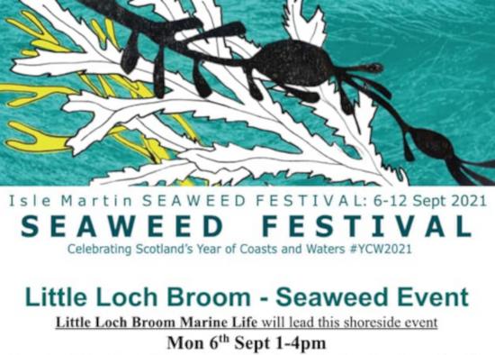 Seaweed festival, seaweed, Isle Martin, Little Loch Broom, Ullapool