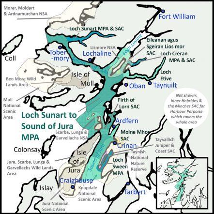 Argyll Hope Spot Map